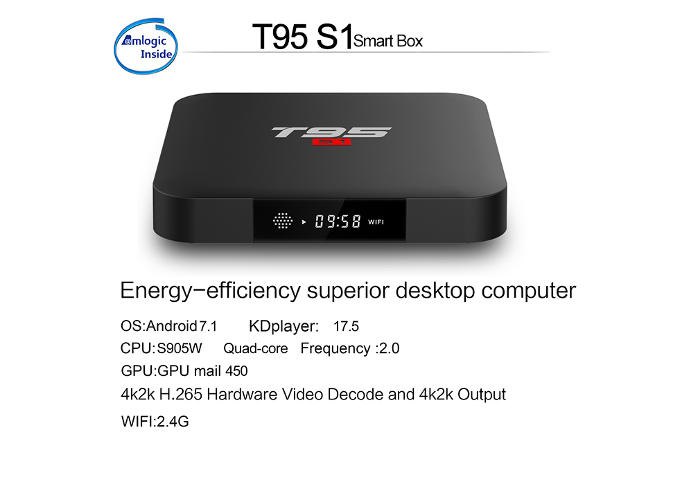 Clytte hot sale android tv box --T95 S1,with atv